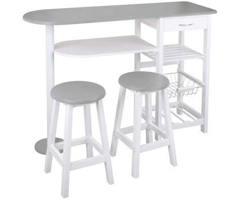 table de bar pour cuisine ensemble cuisine table bar idéal studio avec deux