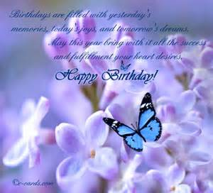 Happy Birthday Wishes Butterflies
