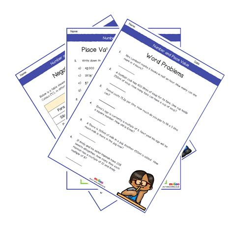 number and place value year 5 worksheets primary