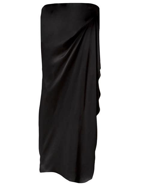 draped skirt lanvin asymmetric draped skirt in black lyst
