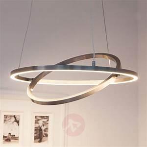 Luminaire Led Suspension : suspension led lovisa avec 2 anneaux led ~ Teatrodelosmanantiales.com Idées de Décoration