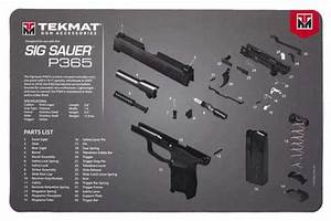 Tekmat Armorers Bench Mat 11 U0026quot X17 U0026quot  Sigarms P365 Black