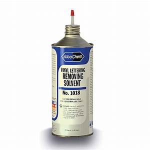 albachem vinyl letter removing solvent 32 oz bottle With albachem letter removing solvent