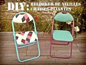 Relooker Des Chaises : yvonne germaine diy relooker de vieilles chaises pliantes banquettes pinterest banquettes ~ Melissatoandfro.com Idées de Décoration
