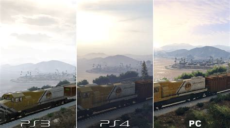 comparatif si鑒es auto gta 5 comparatif graphique pc 4k ps4 et ps3 en images playerone tv