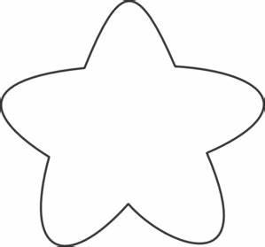 White Star Outline Clip Art at Clker.com - vector clip art ...