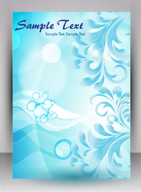 flyer  brochure background vector