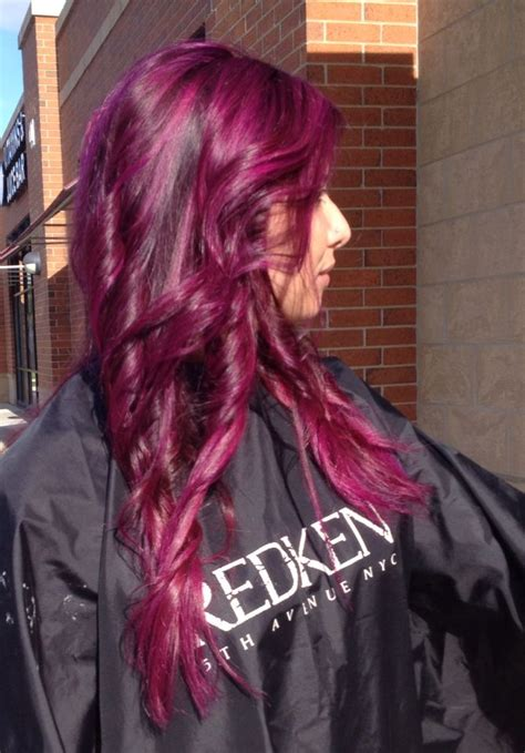Violet Magenta Hair Hair And Makeup Magenta Hair Dyed