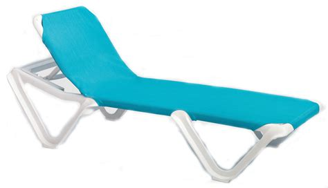 grosfillex nautical adjustable resin sling chaise lounge chair w o arms et t distributors