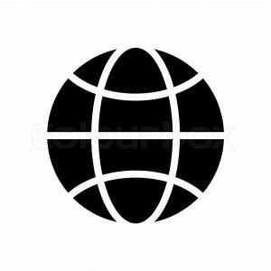 Vector black and white globe icon. Global design concept ...