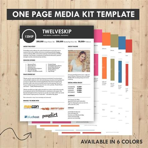Press Kit Template Media Kit Press Kit Templates Easy To Edit Clean High