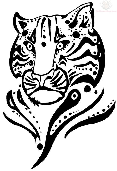 tiger face coloring pages getcoloringpagescom