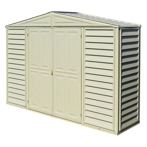 Arrow Metal Shed Accessories by Duramax 10x3 Woodbridge Sidepro Vinyl Shed With Foundation