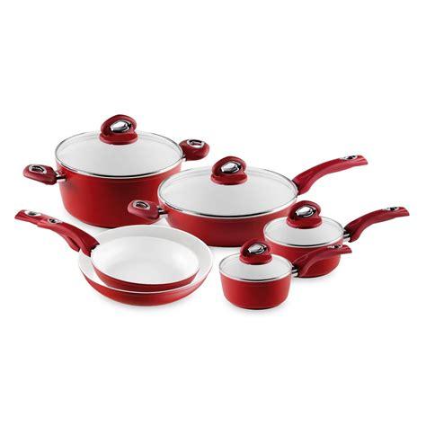 pcs happy home cooking forged aluminum cookware set pfoa