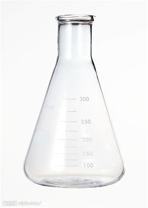 flask conical science equipment liquid hold amounts side