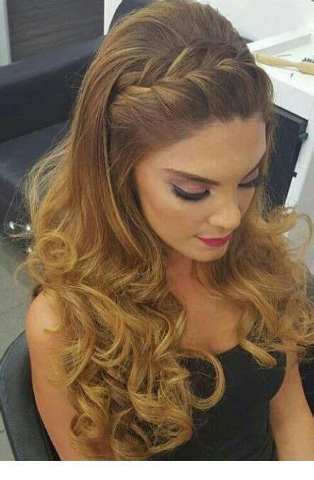 braid hairstyle  nice makeup   wedding dress