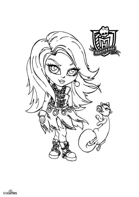 coloriages monster high  cartes