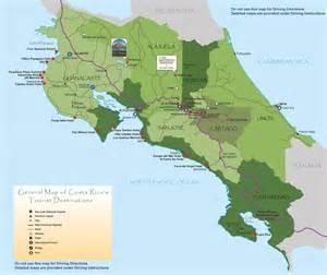Costa Rica Tourist Map