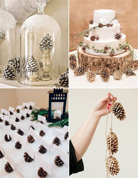 simple inexpensive winter wedding decor ideas