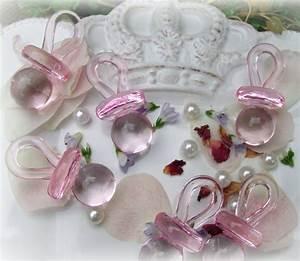 Taufe Deko Mädchen : 36 schnuller acryl rosa streudeko tischdeko taufe baby geburt basteln figuren formen ~ A.2002-acura-tl-radio.info Haus und Dekorationen