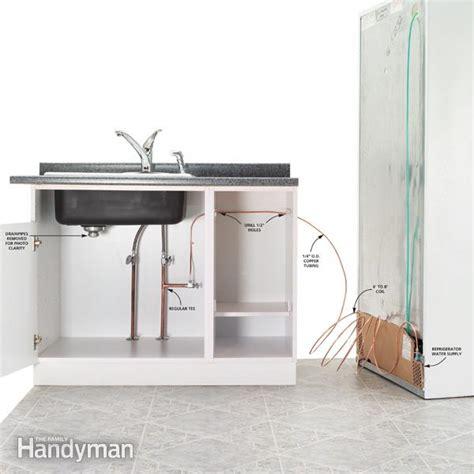install refrigerator plumbing  family handyman