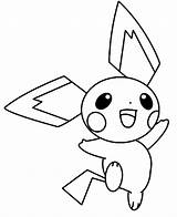 Pichu Coloring Pages Happy Pokemon Pikachu Jumping Around Colorluna Template Getcoloringpages Credit Larger Sketch Getdrawings Luna sketch template