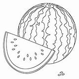 Watermelon Coloring Cantaloupe Template Pages Templates sketch template