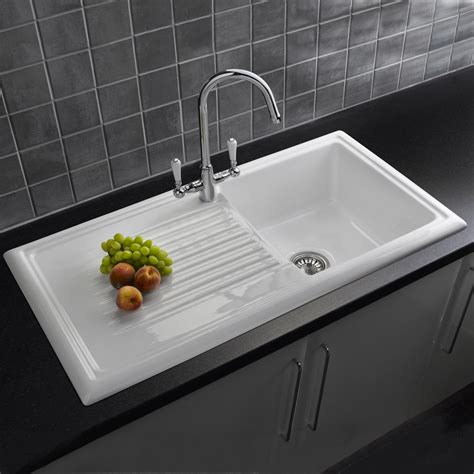 reginox  bowl white ceramic kitchen sink waste tap pack