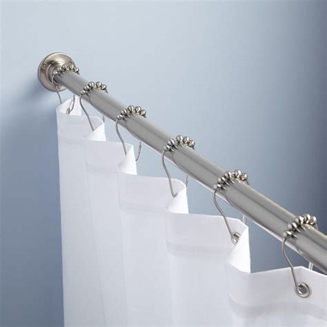 straight solid brass shower curtain rod shower curtain