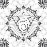 Coloring Pages Chakra Energy Vishuddha Solar Mandala Speech Creative Outline Tattoo Throat Tree Adult Sheet 출처 Istockphoto Renewable Sheets sketch template