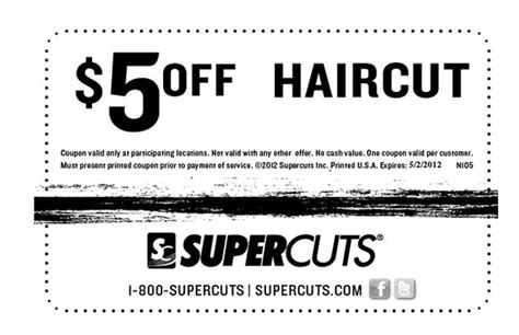 supercuts 5 off haircut printable coupon al com