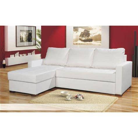 canap駸 d angle en cuir canape angle cuir blanc le canape en cuir blanc pour une decoration epuree de