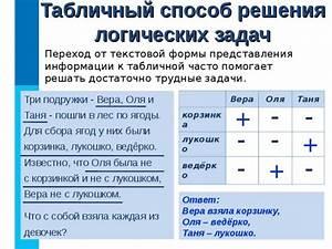 решения с ответами логических задач