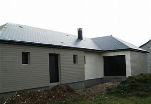 maison construite en ossature bois avec bardage de couleur With photo bardage bois exterieur 6 maison ossature bois plain pied