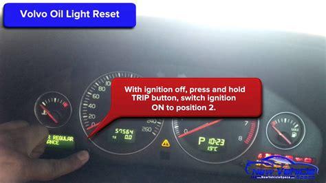 volvo  oil light reset service light
