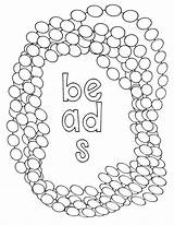 Coloring Pages Beads Bracelet sketch template