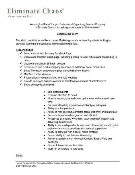 social media intern resume resume ideas