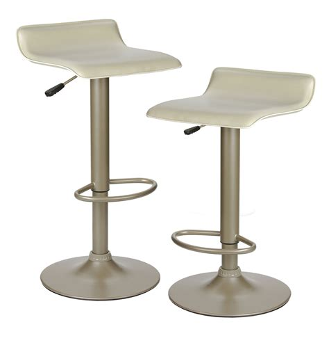 Faux Leather Air Lift Stool In Modern Bar Stools