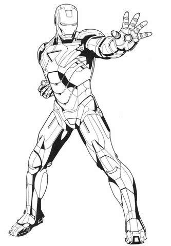 disegno  iron man ferma il nemico da colorare disegni