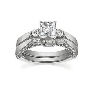 antique wedding ring sets glorious antique cheap bridal ring set half carat princess cut on gold jeenjewels