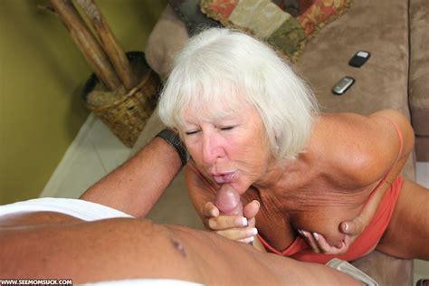 Swarthy old granny in an orange top sucking - XXX Dessert - Picture 3