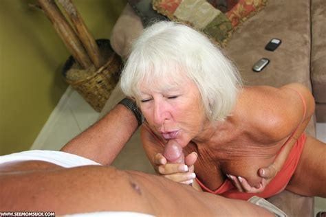 Swarthy Old Granny In An Orange Top Sucking Xxx Dessert