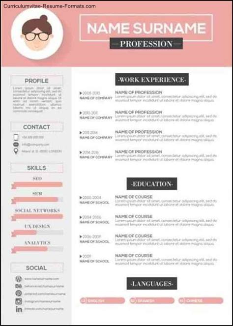modern resume template cover letter template creative