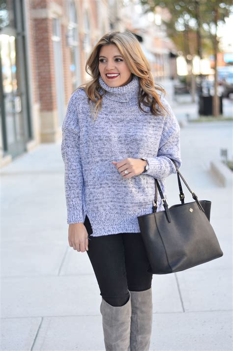 Oversized Grey Sweater Outfit   Her Sweater
