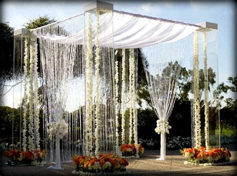 gazebo for rent acrylic lucite plexiglass wedding canopy chuppah rentals