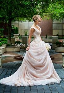 aliexpresscom buy dreamed side draped organza ball gown With blush ball gown wedding dress