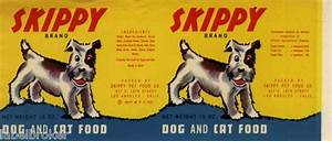 Vintage can label rare dog food 1940s skippy 18th st los ...