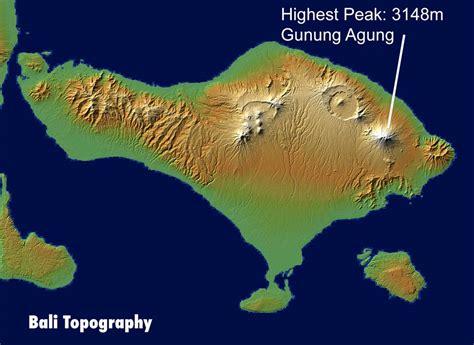 bali map areas topography regencies