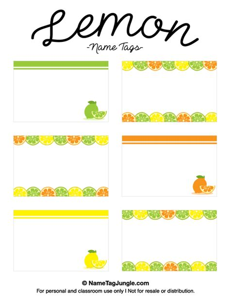 printable lemon  tags  template