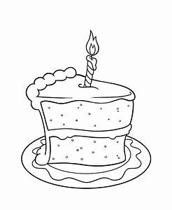 Cake Coloring Pages Getcoloringpagescom